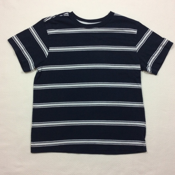 0903cd9960 Old Navy Shirts & Tops | Boys Navy Blue Stripe T Shirt Sz M 8 | Poshmark